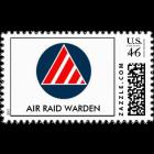Logo_Air-Raid-Warden_civil_defense_air_raid_warden_logo_postage-rd43c38aee73d4f1983e88a3840e1dbbc_xjs8p_8byvr_512