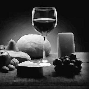Illustration_Food-&-Wine_DH-V2_paint-daubs_B&W