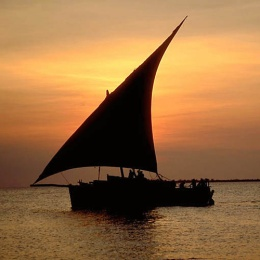 Dhow-Sail-Boat-at-Sunset_photo-by-Martin-Wierzbicki_Color